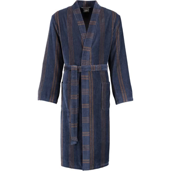 Cawö Herren Bademantel Kimono 2508 - Farbe: blau - 13 XL