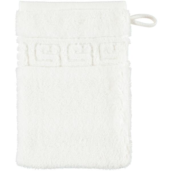 Cawö - Noblesse Uni 1001 - Farbe: 600 - weiß Waschhandschuh 16x22 cm