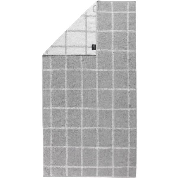 Cawö - Luxury Home Two-Tone Grafik 604 - Farbe: platin - 76 Duschtuch 80x150 cm