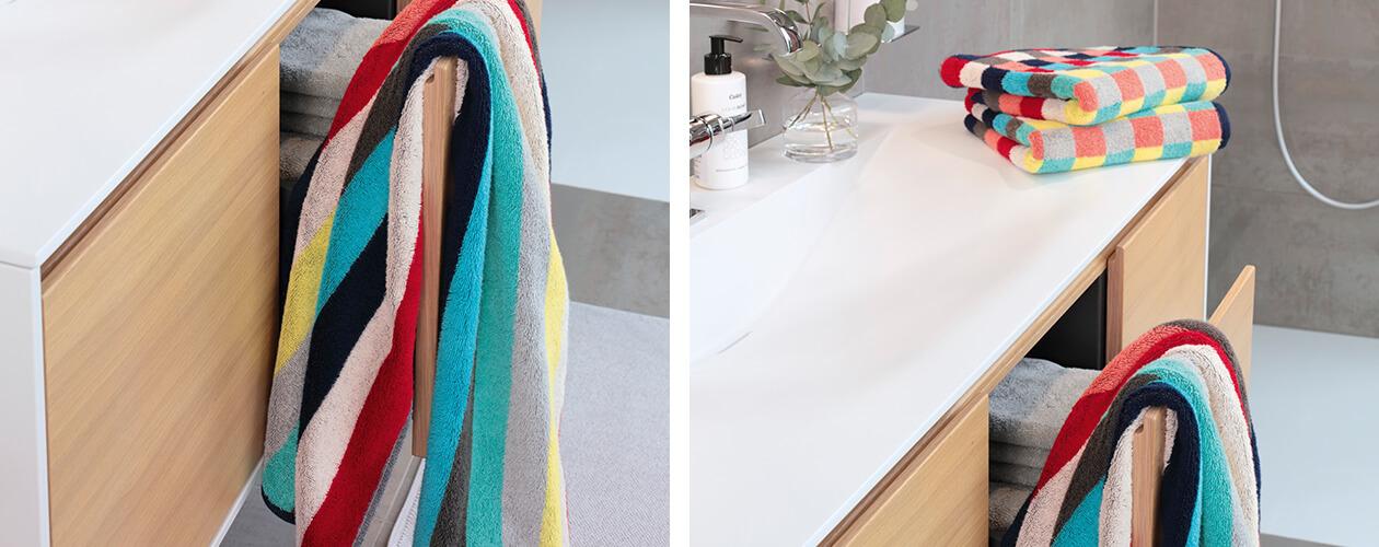 Cawö Splash Blockstreifen 997 - Farbe: multicolor - 12 Handtuch 50x100 cm Detailbild 2