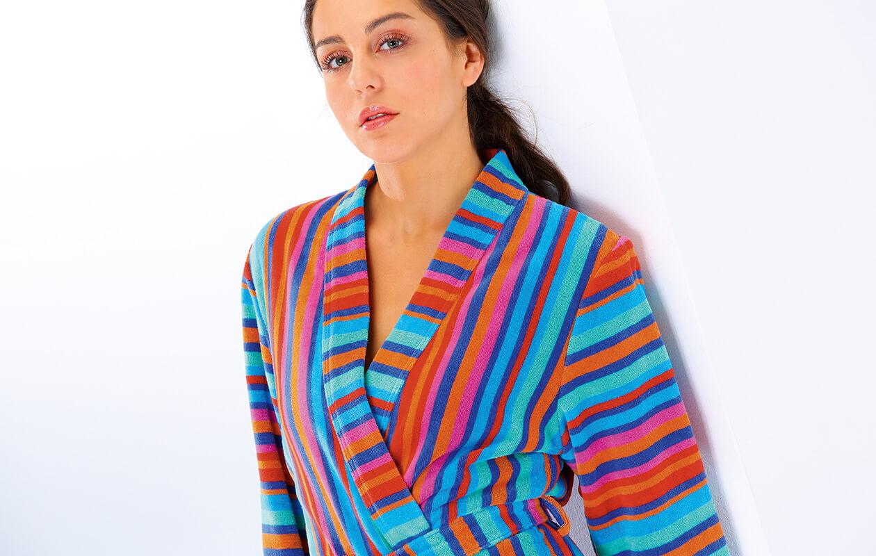 Cawö Damen Bademantel Kimono Art 1228 - Farbe: multicolor - 12 Detailbild 1