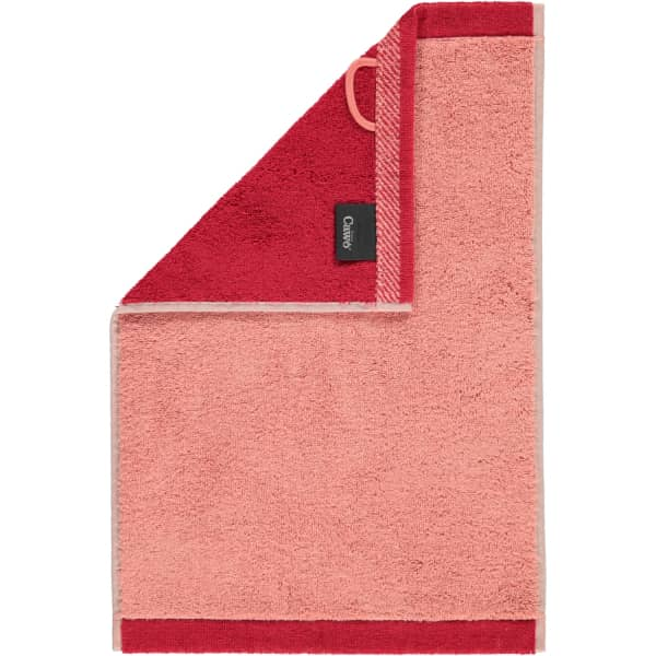 Cawö Plaid Doubleface 7070 - Farbe: rouge - 22 Gästetuch 30x50 cm