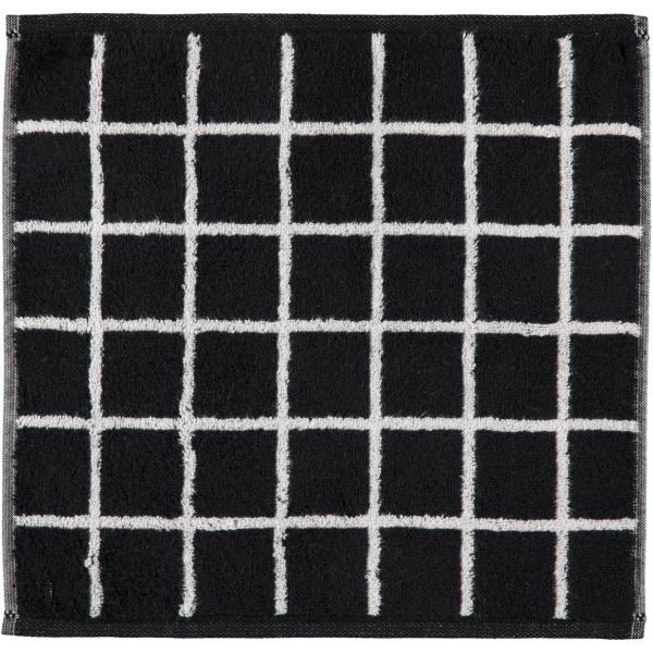 Cawö Zoom Karo 123 - Farbe: schwarz - 97 Seiflappen 30x30 cm
