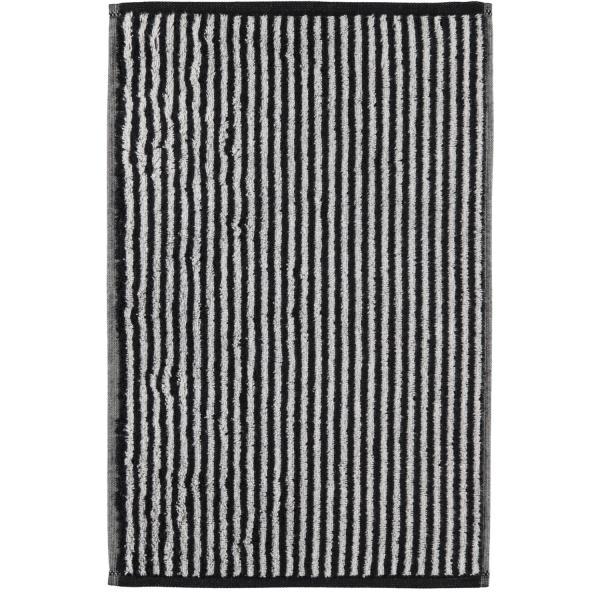Cawö Zoom Streifen 121 - Farbe: schwarz - 97 Gästetuch 30x50 cm