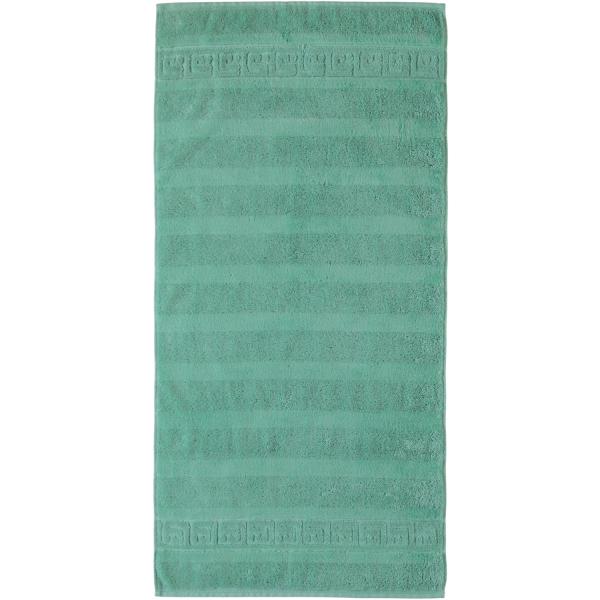 Cawö - Noblesse Uni 1001 - Farbe: 474 - agavegrün Handtuch 50x100 cm