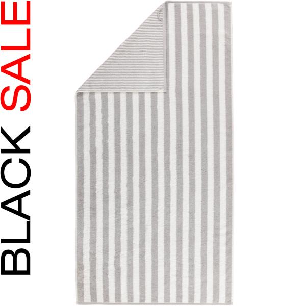 Cawö Black Sale Wendestreifen 186 - Farbe: platin - 76 Duschtuch 70x140 cm