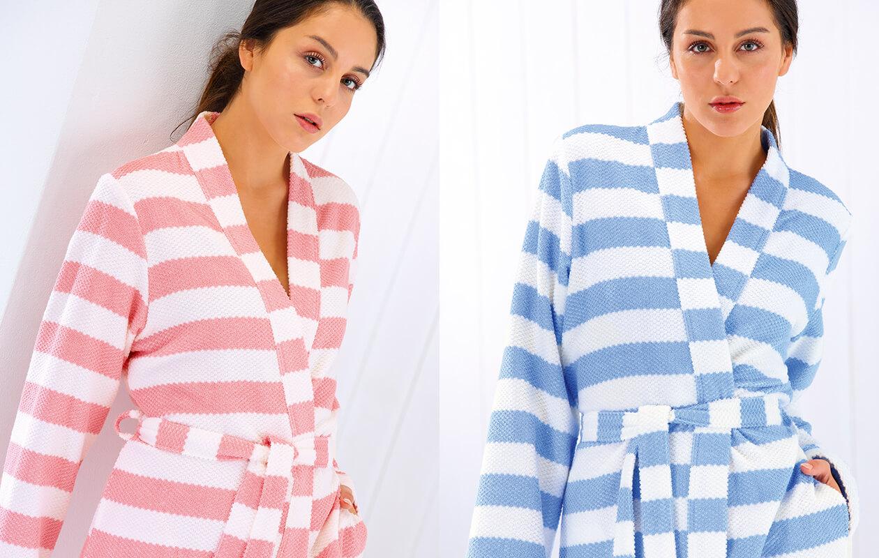 Cawö Damen Bademantel Kimono 1241 - Farbe: malve - 26 L Detailbild 3