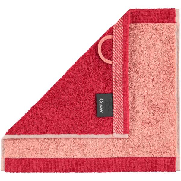 Cawö Plaid Doubleface 7070 - Farbe: rouge - 22 Seiflappen 30x30 cm