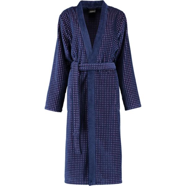 Cawö Damen Bademantel Kimono 6126 - Farbe: blau-beere - 18