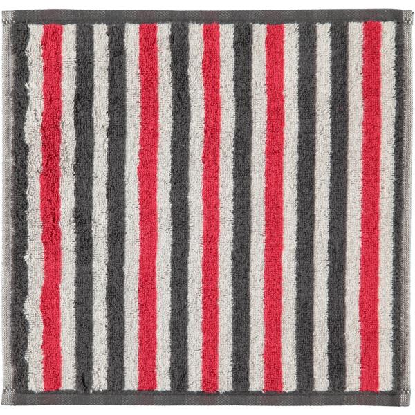 Cawö Tape Streifen 103 - Farbe: anthrazit-rot - 27 Seiflappen 30x30 cm