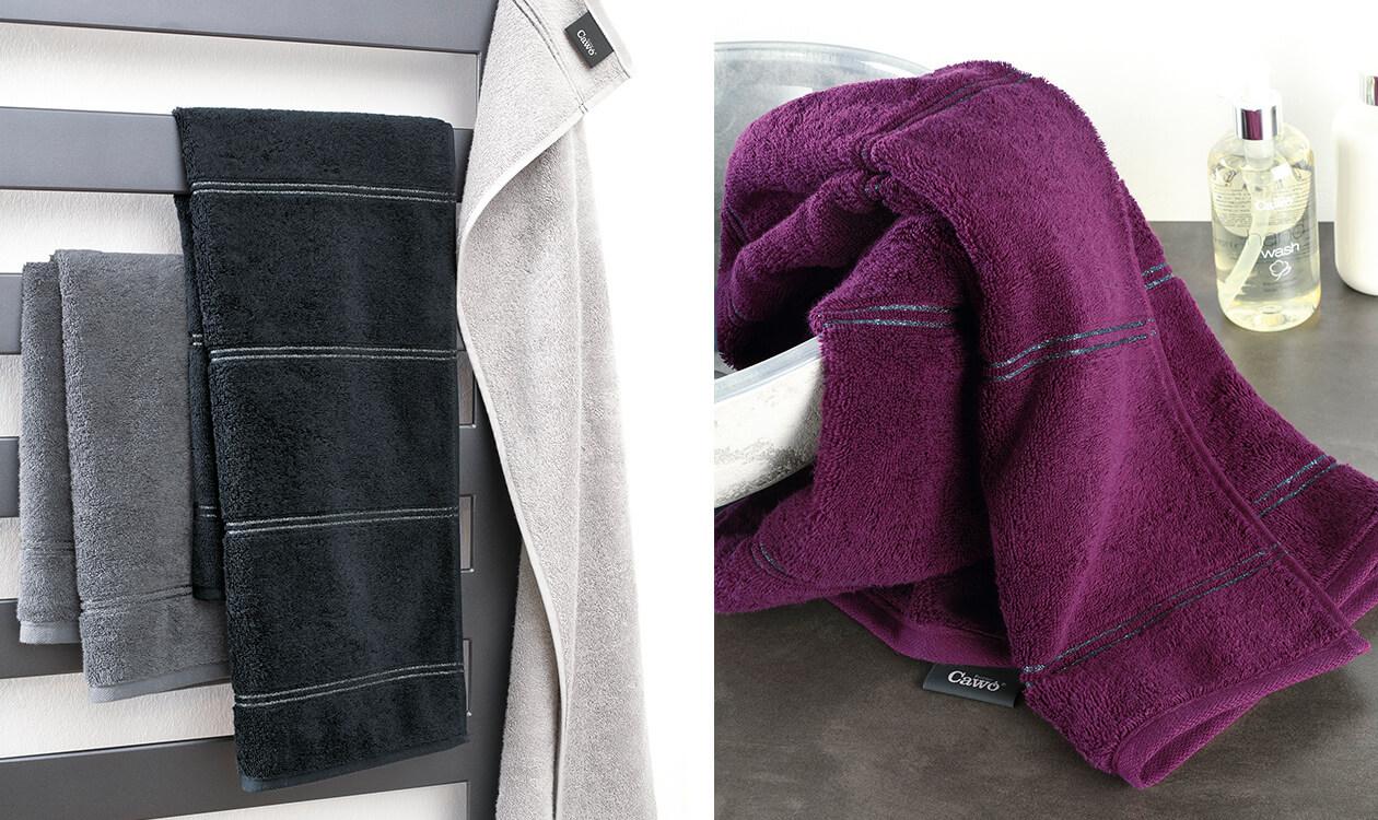 Cawö Carat Borte 580 - Farbe: platin - 705 Waschhandschuh 16x22 cm Detailbild 1