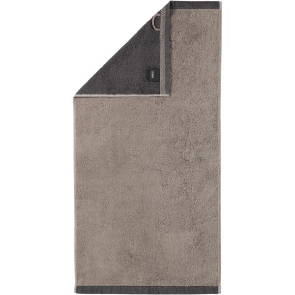 Cawö Plaid Doubleface 7070 - Farbe: graphit - 77 Handtuch 50x100 cm