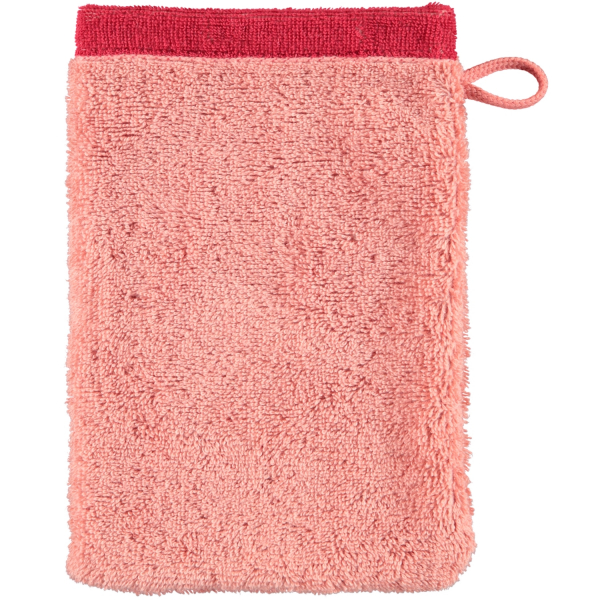 Cawö Plaid Doubleface 7070 - Farbe: rouge - 22 Waschhandschuh 16x22 cm