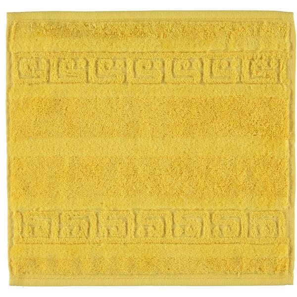 Cawö - Noblesse Uni 1001 - Farbe: 521 - gelb Seiflappen 30x30 cm