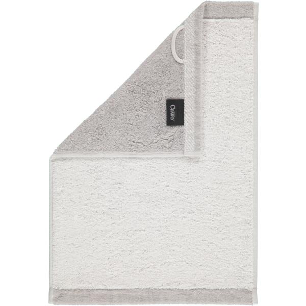 Cawö Plaid Doubleface 7070 - Farbe: weiß - 76 Gästetuch 30x50 cm