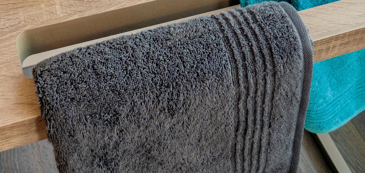 Cawö Essential Uni 9000 - Farbe: mauve - 374 Waschhandschuh 16x22 cm Detailbild 3