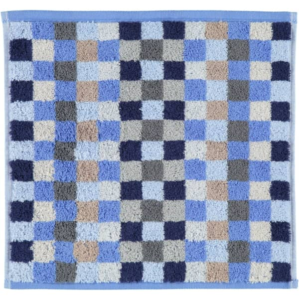 Cawö - Unique Karo 942 - Farbe: saphir - 11 Seiflappen 30x30 cm