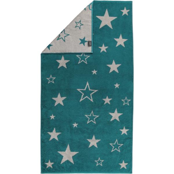 Cawö Christmas Edition Sterne 928 - Farbe: smaragd - 44 Duschtuch 80x150 cm