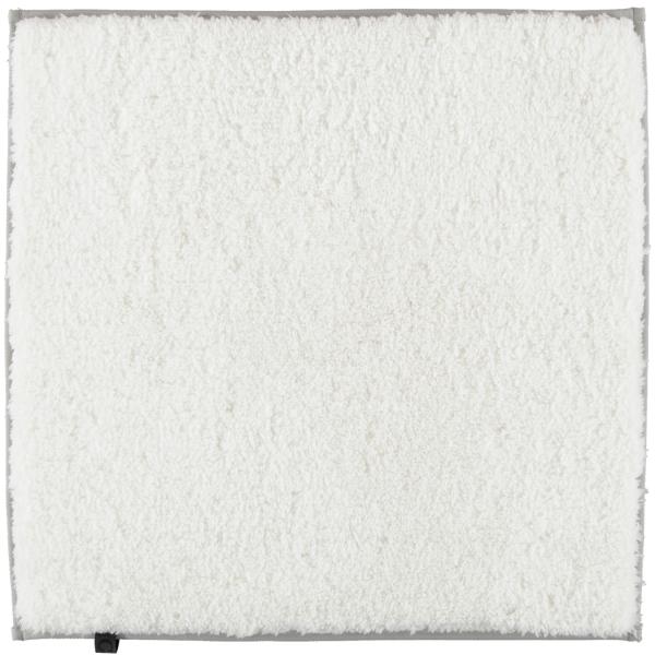 Cawö Home Badteppich Frame 1006 - Farbe: weiß - 600 60x60 cm