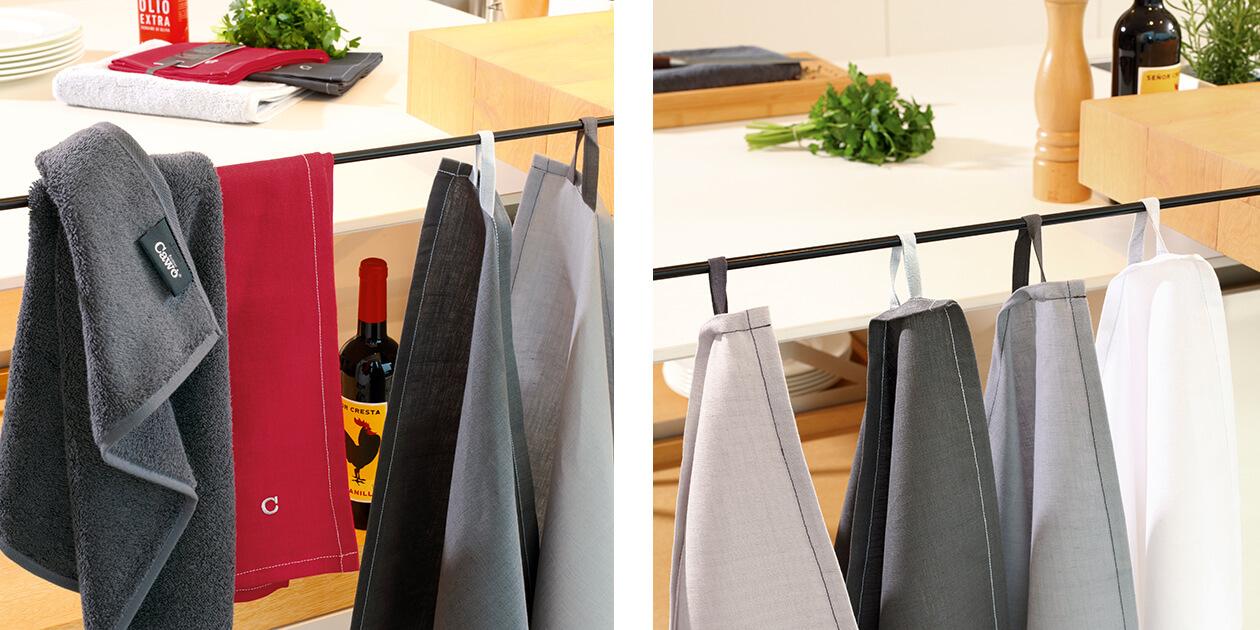 Cawö Home Solid 500 - Geschirrtuch 50x70 cm - Farbe: platin - 705 Detailbild 2