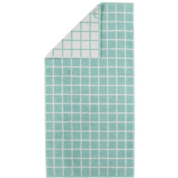 Cawö Campus Karo 959 - Farbe: seegrün - 40 Duschtuch 70x140 cm