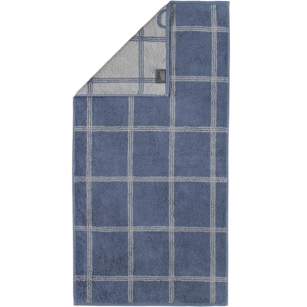 Cawö - Luxury Home Two-Tone Grafik 604 - Farbe: nachtblau - 10 Handtuch 50x100 cm