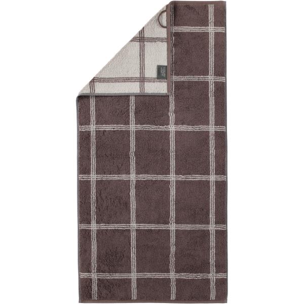 Cawö - Luxury Home Two-Tone Grafik 604 - Farbe: pepper - 37 Handtuch 50x100 cm