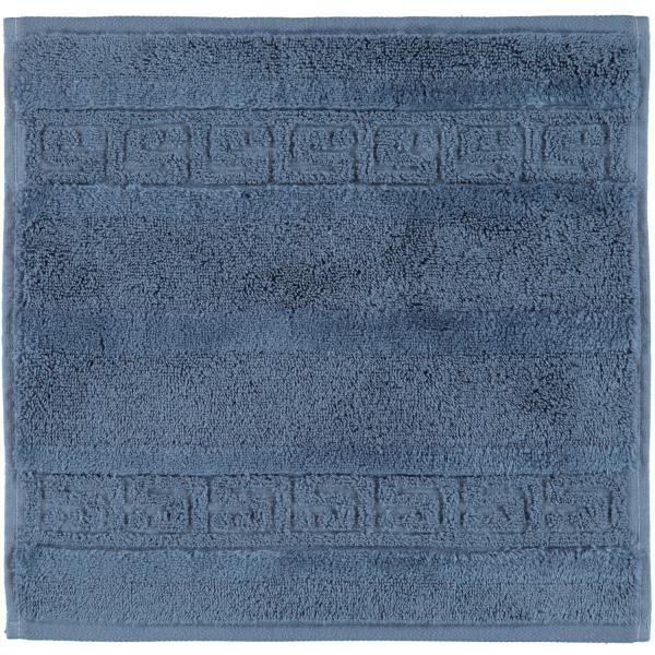 Cawö - Noblesse Uni 1001 - Farbe: nachtblau - 111 Seiflappen 30x30 cm