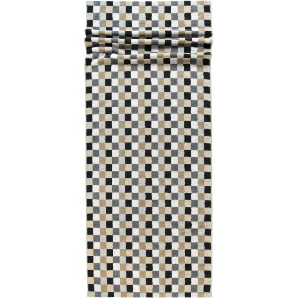 Cawö - Life Style Karo 7047 - Farbe: 37 - kiesel Saunatuch 70x180 cm