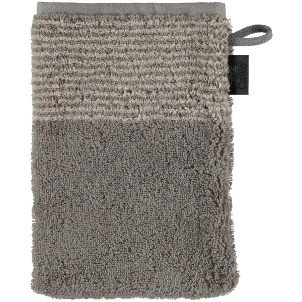 Cawö - Luxury Home Two-Tone 590 - Farbe: graphit - 70 Waschhandschuh 16x22 cm