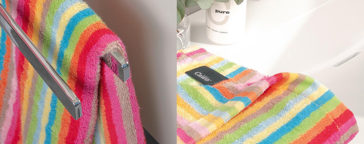 Cawö - Life Style Streifen 7008 - Farbe: 25 - multicolor Handtuch 50x100 cm Detailbild 3