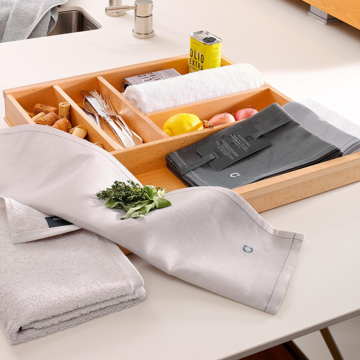 Cawö Home Solid 500 - Geschirrtuch 50x70 cm - Farbe: weiß - 600 Detailbild 2