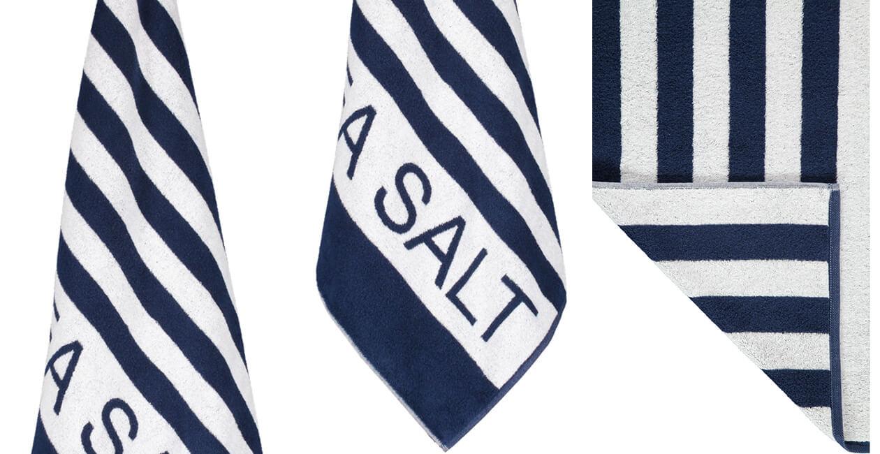 Cawö Saunatuch Sea Salt Sand Streifen 441 - 80x180cm - Farbe: navy-weiß - 16 Detailbild 2