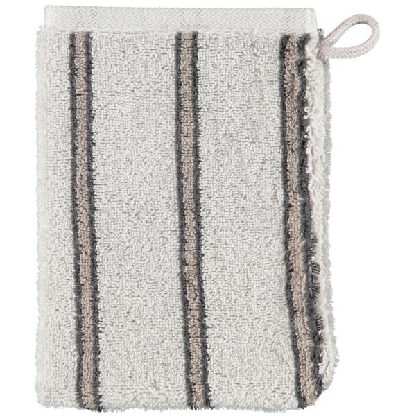 Cawö Polo Streifen 365 - Farbe: platin - 73 Waschhandschuh 16x22 cm