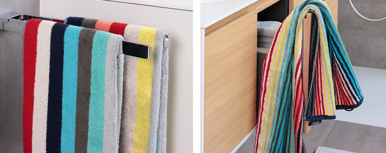 Cawö Splash Blockstreifen 997 - Farbe: multicolor - 12 Handtuch 50x100 cm Detailbild 3