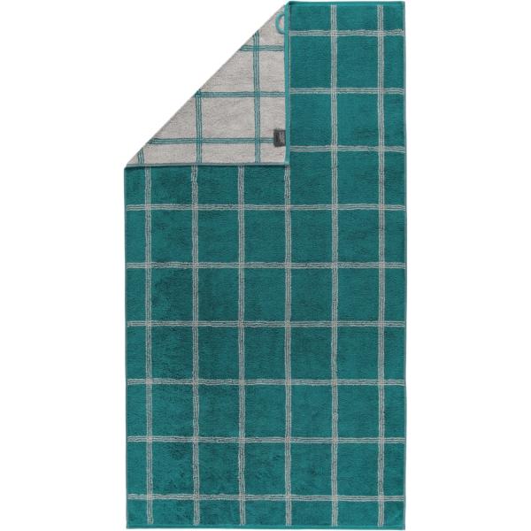 Cawö - Luxury Home Two-Tone Grafik 604 - Farbe: smaragd - 44 Duschtuch 80x150 cm