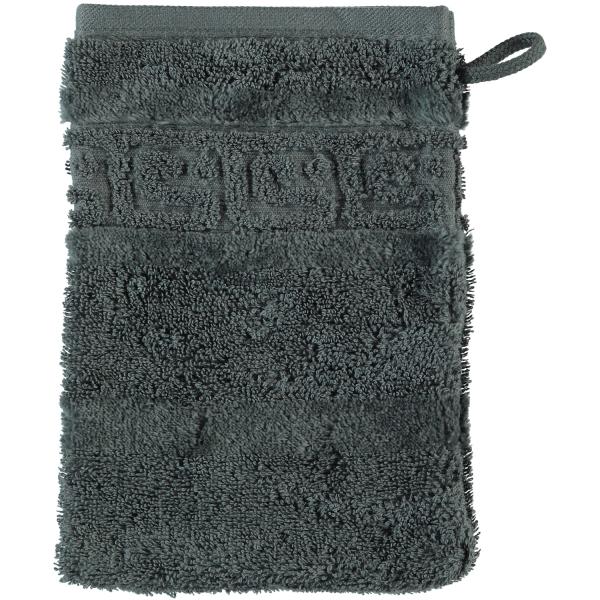Cawö - Noblesse Uni 1001 - Farbe: 774 - anthrazit Waschhandschuh 16x22 cm