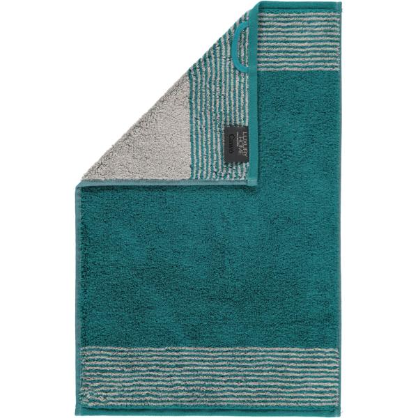 Cawö - Luxury Home Two-Tone 590 - Farbe: smaragd - 44 Gästetuch 30x50 cm