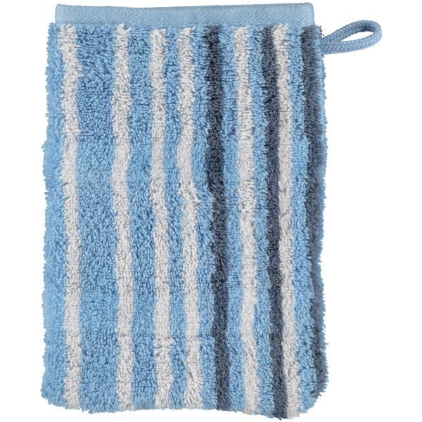 Cawö - Noblesse Lines 1082 - Farbe: sky - 11 Waschhandschuh 16x22 cm