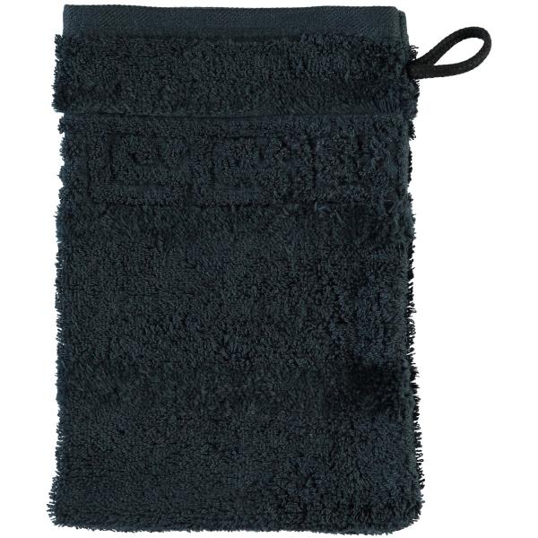 Cawö - Noblesse Uni 1001 - Farbe: 901 - schwarz Waschhandschuh 16x22 cm