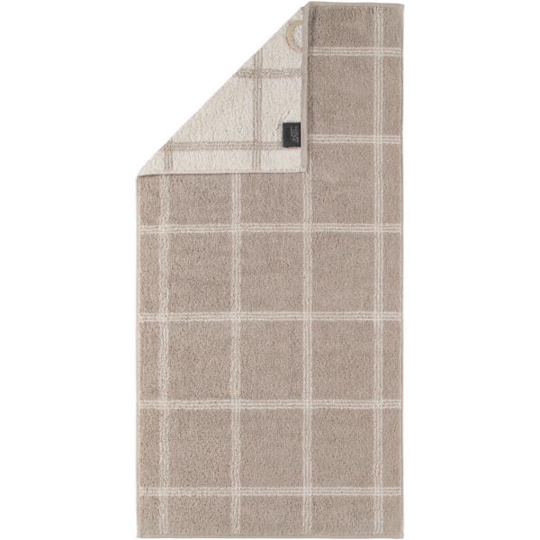 Cawö - Luxury Home Two-Tone Grafik 604 - Farbe: sand - 33 Handtuch 50x100 cm