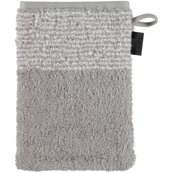Cawö - Luxury Home Two-Tone 590 - Farbe: platin - 76 Waschhandschuh 16x22 cm