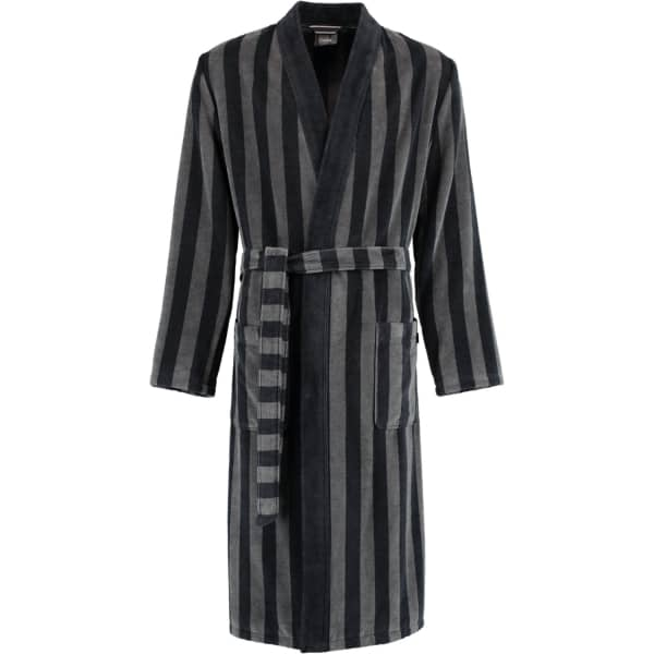 Cawö Herren Bademantel Kimono 2612 - Farbe: schwarz - 97