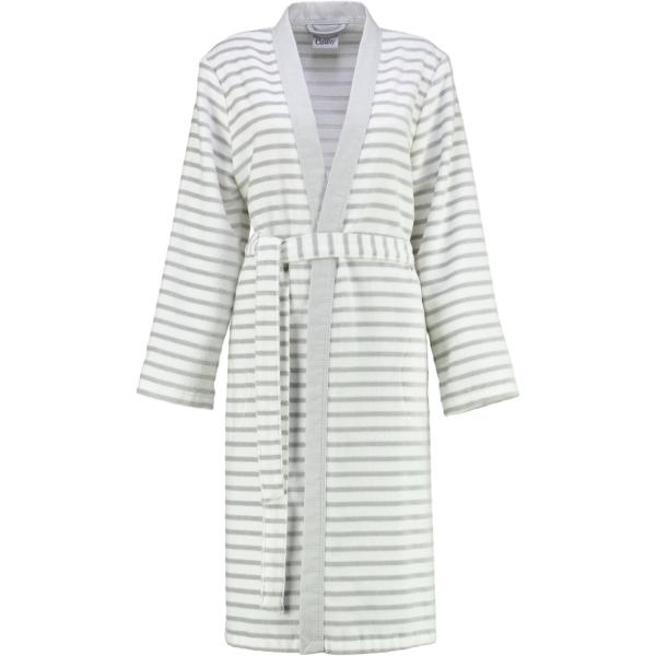 Cawö - Damen Bademantel Kimono Breton 6595 - Farbe: silber - 76 L