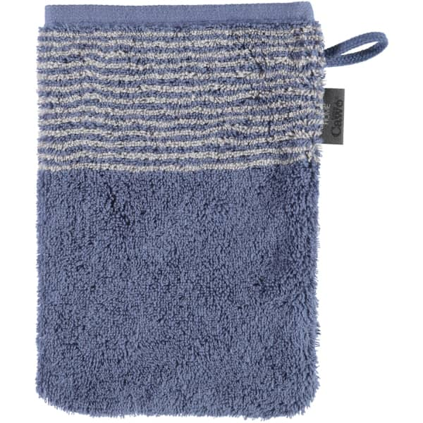 Cawö - Luxury Home Two-Tone 590 - Farbe: nachtblau - 10 Waschhandschuh 16x22 cm