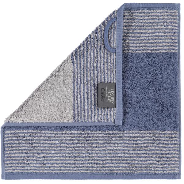 Cawö - Luxury Home Two-Tone 590 - Farbe: nachtblau - 10 Seiflappen 30x30 cm