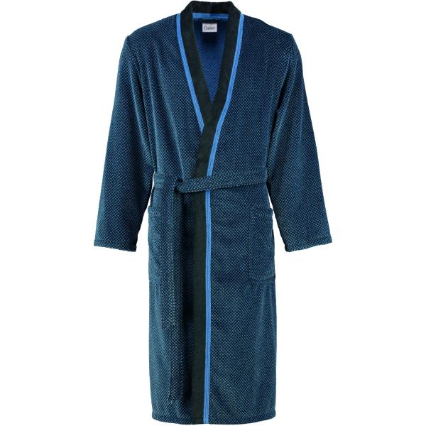 Cawö - Herren Bademantel Kimono 4839 - Farbe: blau/schwarz - 19 M
