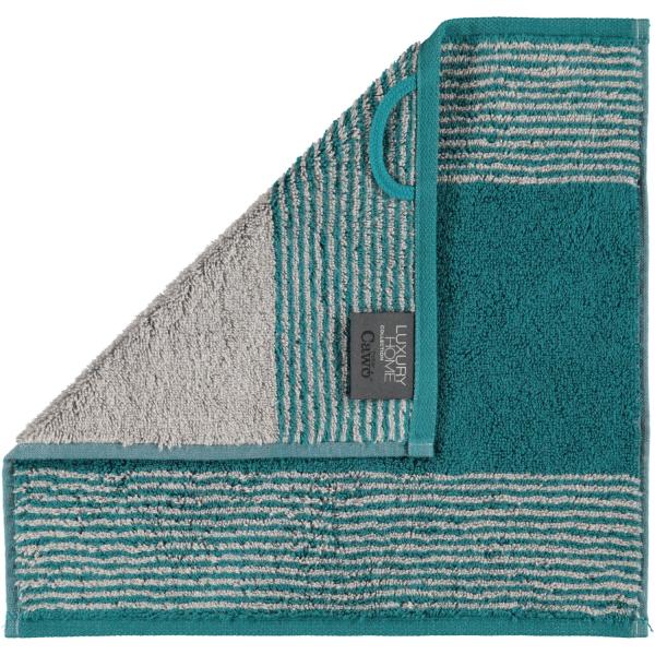 Cawö - Luxury Home Two-Tone 590 - Farbe: smaragd - 44 Seiflappen 30x30 cm