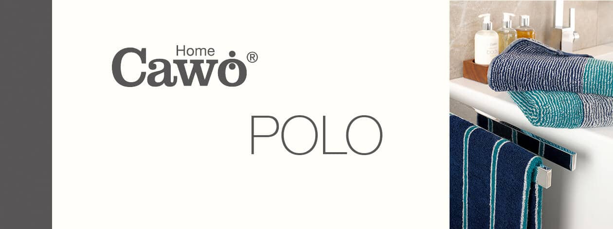 Cawö Polo Streifen 365 - Farbe: platin - 73 Gästetuch 30x50 cm Detailbild 2