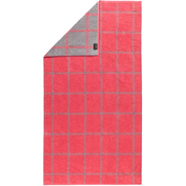 Cawö - Luxury Home Two-Tone Grafik 604 - Farbe: rot - 27 Duschtuch 80x150 cm